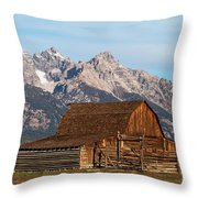 Mormon Barn Throw Pillow