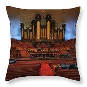 Mormon Meeting Hall Throw Pillow