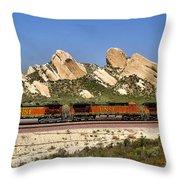 Mormon Rocks California Throw Pillow