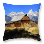 Mormon Row Barn 2 Throw Pillow