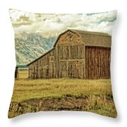 Mormon Row Barn No 3 Throw Pillow