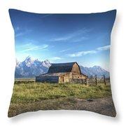 Mormon Row Hdr Throw Pillow