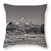 Mormon Row Too Throw Pillow