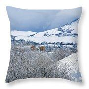 Mormon Tabernacle In Snow II Throw Pillow