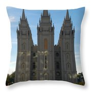 Mormon Temple Fall Throw Pillow