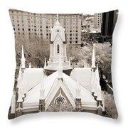 Mormon Temple Throw Pillow