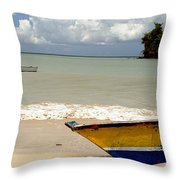 Morne Rouge Boats Throw Pillow