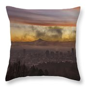 Morning After Christmas Day Throw Pillow