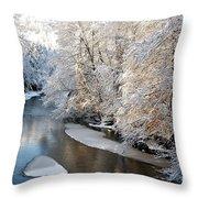 Morning After Snowfall Throw Pillow