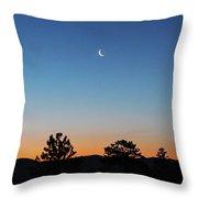 Morning Alpenglow Throw Pillow