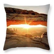 Morning Arch Throw Pillow