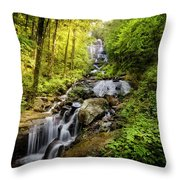 Morning At Amicalola Falls Throw Pillow