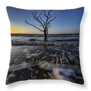 Morning At Botany Bay Plantation Throw Pillow