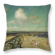 Morning At Breakwater, Shinnecock Throw Pillow