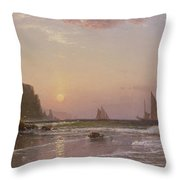 Morning At Grand Manan Throw Pillow by Alfred Thompson Bricher
