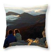 Morning At Haleakala  Throw Pillow