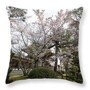 Morning At Horyu-ji Temple Throw Pillow