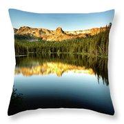 Morning At Lake Mamie Throw Pillow