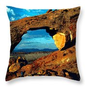 Morning At Landscape Arch Throw Pillow
