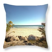Morning At Qgunquit Beach. Throw Pillow