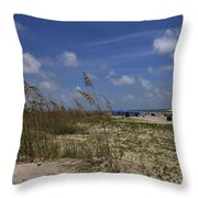 Morning At The Beach Throw Pillow