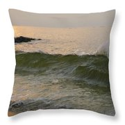 Morning At The Edge Of The Continent Throw Pillow