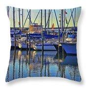 Morning At The Marina Throw Pillow
