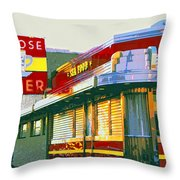 Morning At The Melrose Throw Pillow