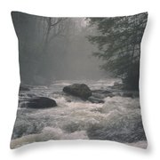 Morning At The River Throw Pillow
