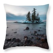 Morning At The Tombolo Throw Pillow