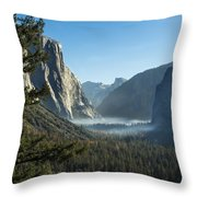 Morning At Tunnel View Throw Pillow