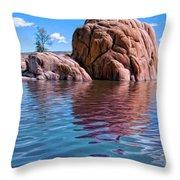Morning At Watson Lake Throw Pillow