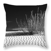 Morning At White Sands  Throw Pillow