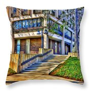 Morning Before Business Throw Pillow