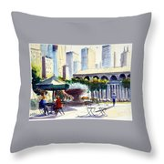 Morning, Bryant Park  Throw Pillow