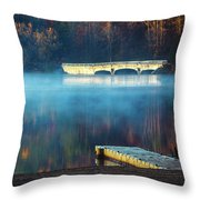 Morning Burn Off  Throw Pillow