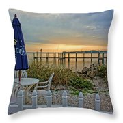 Morning By The Bay Throw Pillow