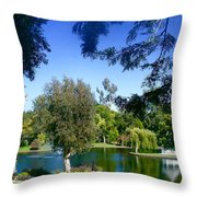 Morning By The Lake Throw Pillow
