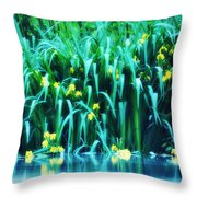 Morning By The Pond Throw Pillow