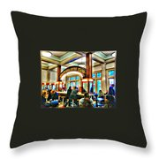 Morning Call Coffee Stand Throw Pillow