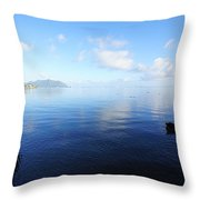 Morning Calm Kaneohe Bay  Throw Pillow