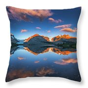 Morning Colors At Ice Field Center Throw Pillow