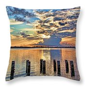 Morning Colors By H H Photography Of Florida Throw Pillow