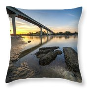 Morning Colors In Port St. Joe Throw Pillow