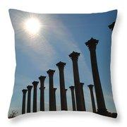 Morning Column Light Throw Pillow