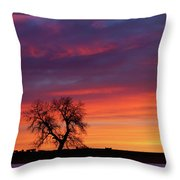 Morning Country Sky Throw Pillow