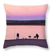 Morning Crab Fishing Throw Pillow