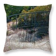 Morning Dew At Pendleton Park 2 Throw Pillow