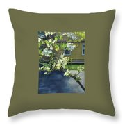 Morning Dogwood Throw Pillow