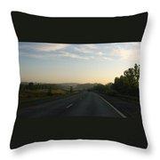 Morning Drive Throw Pillow
